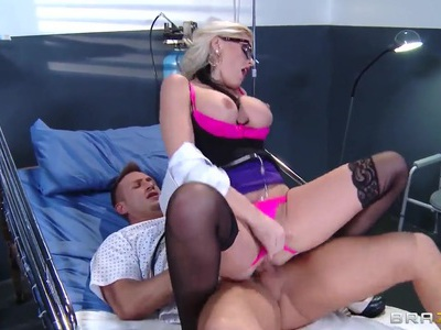 Alena Croft treats her patient Bill Bailey