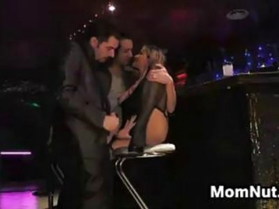 MILF In A Threesome At A Club