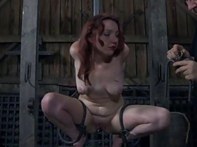 Girl in latex suit gets twat and anal prodding