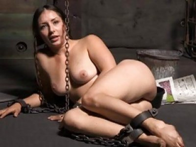 Naughty bound up serf acquires pounderous caning