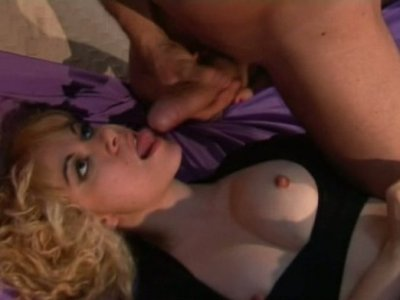 Tremendous curly blond head gets anal fucked