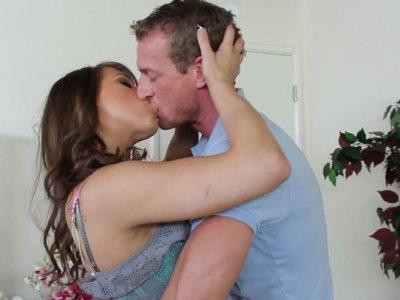 Voracious Natasha Vega sucks the dick deepthroat and gets her pussy polished
