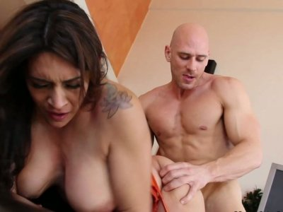 Tatted slut Raylene jumps on a cock and gets nailed hard doggystyle