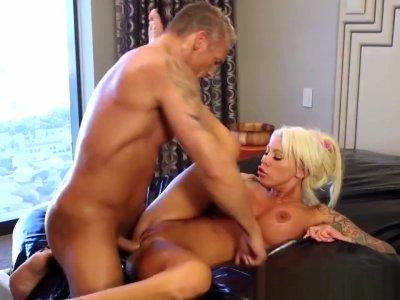 Massage Slut Sucks Cock
