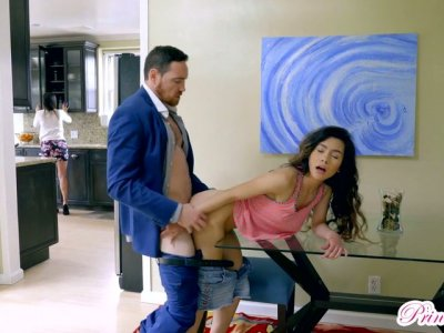 Lustful chick Christian Charity seduces her stepfather Johnny Castle