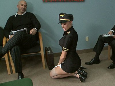 Gorgeous airline stewardess