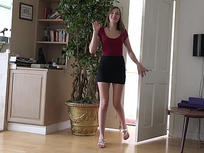 Perfect footjob teen