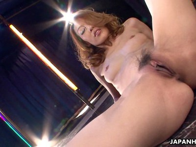 Asian stripper getting wild on the pole