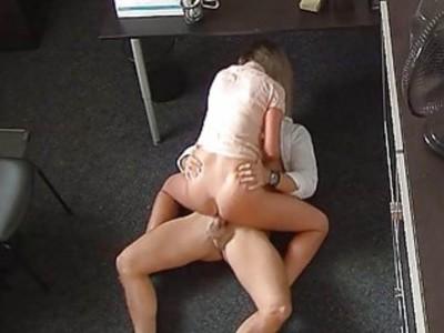 Sexy Blonde Student Fucks Model Agent