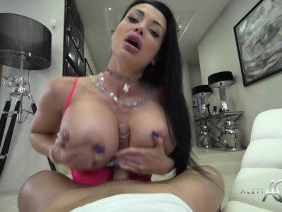 Cum On Big Tits After Anal Sex - Aletta Ocean