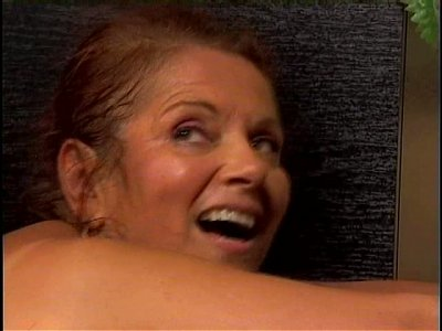 Tanned whore Linda gets her wet mature cunt drilled from behind