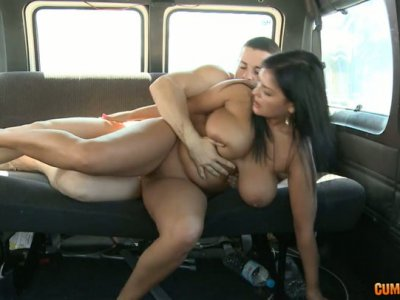 Busty bimbo Jasmine Black rides a hard dick