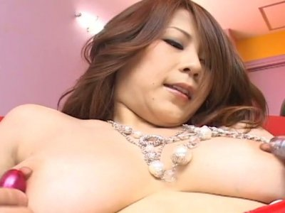 Naughty Japanese babe Yuki Aida gets her horny snatch pleasured with toys