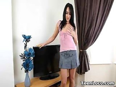 Amateur Teen Cleans And Strips
