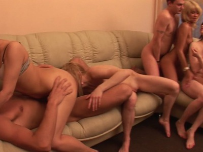 Alma & Inga E & Daisy & Gia & Octavia in party girls get their twats ravished in this porn