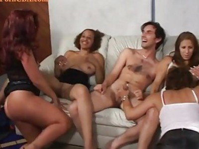 Hot interracial sexparty