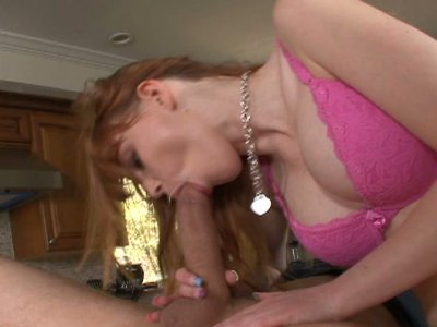 Brunette Marie McCray gets her pussy fucked on the table Part 2