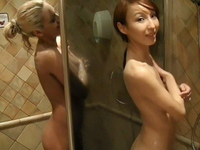 Pickup fuck with hot blonde and asian
