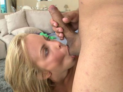 Ardent blowjob performed by Krystal
