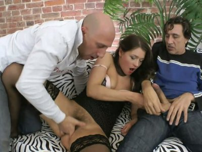 Sultry bitch Savannah Secret is ready to please two dicks at one