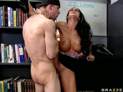 "Dark angel Angelina Valentine gives a head to Criss Strokes and gets rammed hard ""flamingo"" pose"