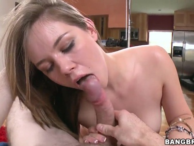 Melissa Moore gives lusty blowjob to boyfriend