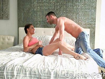 Peta Jensen gets a hot load on her ass
