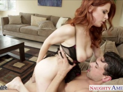 Small titted redhead wife Penny Pax fucking