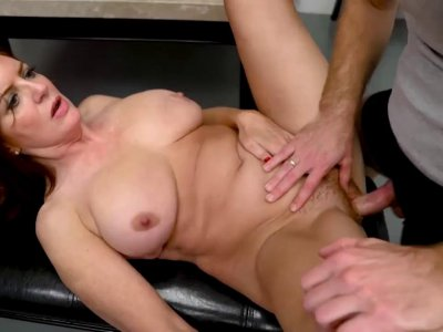 Busty mommy got her hairy cunt smashed hard and fast