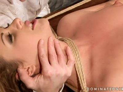 Tied up sex of the beautiful Hadjara