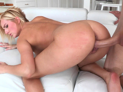 Kate England takes extra long meaty reamer doggystyle