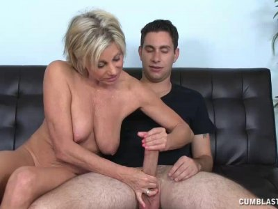 Milf Strokes Young Cock To Get Her Car Keys