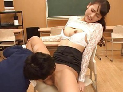 Asian babe with boobs toys her wanton cunt