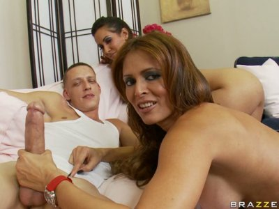 Gorgeous MILF Monique Fuentes teaches Isis Love how to fuck