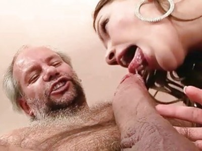 Grandpa loves sexy young brunette